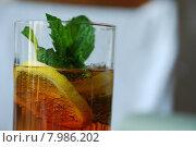Купить «drink alcohol lemon fancy mint», фото № 7986202, снято 21 октября 2018 г. (c) PantherMedia / Фотобанк Лори