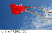 Воздушный змей на голубом небе. Стоковое видео, видеограф Vladimir  Zeichev / Фотобанк Лори