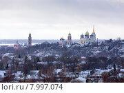 Купить «Вид на город Болхов», эксклюзивное фото № 7997074, снято 7 февраля 2015 г. (c) Сергей Лаврентьев / Фотобанк Лори