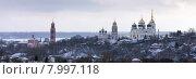 Купить «Вид на город Болхов», эксклюзивное фото № 7997118, снято 7 февраля 2015 г. (c) Сергей Лаврентьев / Фотобанк Лори