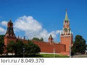 Спасская башня Московского Кремля летом (2015 год). Стоковое фото, фотограф Малахов Алексей / Фотобанк Лори