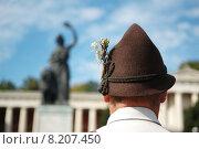 Купить «man head hat costume bavaria», фото № 8207450, снято 23 марта 2019 г. (c) PantherMedia / Фотобанк Лори