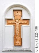 Купить «Поклонный крест в Иоанно-Богословском Савво-Крыпецком монастыре», эксклюзивное фото № 8225490, снято 23 сентября 2014 г. (c) Александр Гаценко / Фотобанк Лори
