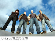 man sky men metal jeans. Стоковое фото, фотограф Markus  Nicolini / PantherMedia / Фотобанк Лори