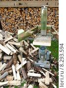 work wood job winter garden. Стоковое фото, фотограф Tobias Ott / PantherMedia / Фотобанк Лори