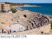 Купить «The Roman amphitheater in Tarragona. Spain», фото № 8297174, снято 16 мая 2015 г. (c) Яков Филимонов / Фотобанк Лори