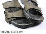 Купить «leather sole buckle schlappen velcro», фото № 8318894, снято 23 марта 2019 г. (c) PantherMedia / Фотобанк Лори
