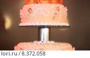 Купить «Свадебный торт», видеоролик № 8372058, снято 18 июня 2015 г. (c) Tatiana Kravchenko / Фотобанк Лори
