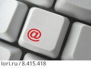 Купить «red computer message keyboard key», фото № 8415418, снято 19 сентября 2018 г. (c) PantherMedia / Фотобанк Лори