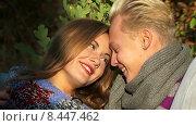 Купить «Портрет влюбленной пары», видеоролик № 8447462, снято 3 июля 2015 г. (c) Tatiana Kravchenko / Фотобанк Лори