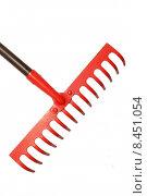 Купить «tool rake gartenwerkzeug red wood», фото № 8451054, снято 22 апреля 2019 г. (c) PantherMedia / Фотобанк Лори