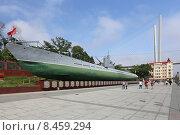 Купить «Мемориальный комплекс подводная лодка С-56 во Владивостоке», эксклюзивное фото № 8459294, снято 25 июня 2015 г. (c) Алексей Гусев / Фотобанк Лори