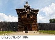 Старый форт в Иркутском архитектурно-этнографическом музее «Тальцы» (2015 год). Редакционное фото, фотограф Борис Ветшев / Фотобанк Лори