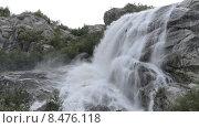 Купить «Алибекский водопад на Домбае в горах Северного Кавказа», эксклюзивный видеоролик № 8476118, снято 30 июля 2015 г. (c) Алексей Бок / Фотобанк Лори