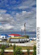 Купить «Газокомпрессорная станция ГКС», фото № 8479970, снято 19 июня 2014 г. (c) Manapova Ekaterina / Фотобанк Лори