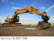 Купить «construction site bau dredger baggern», фото № 8507734, снято 20 марта 2019 г. (c) PantherMedia / Фотобанк Лори