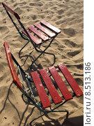Купить «red summer beach chair seaside», фото № 8513186, снято 23 февраля 2019 г. (c) PantherMedia / Фотобанк Лори