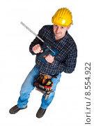Купить «manual worker industrial drill», фото № 8554922, снято 20 февраля 2020 г. (c) PantherMedia / Фотобанк Лори