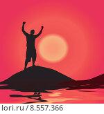 Купить «Victory At Sunset», иллюстрация № 8557366 (c) PantherMedia / Фотобанк Лори