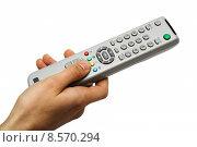 Купить «television fernbediennung remote control hand», фото № 8570294, снято 23 февраля 2019 г. (c) PantherMedia / Фотобанк Лори
