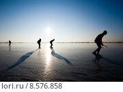 Купить «ice skating», фото № 8576858, снято 21 мая 2018 г. (c) PantherMedia / Фотобанк Лори