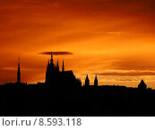 Купить «Prague sunset», фото № 8593118, снято 14 декабря 2019 г. (c) PantherMedia / Фотобанк Лори