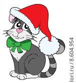 Купить «Cat in Christmas cap», иллюстрация № 8604954 (c) PantherMedia / Фотобанк Лори