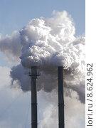 Купить «smokestacks polluting the air», фото № 8624962, снято 18 декабря 2018 г. (c) PantherMedia / Фотобанк Лори