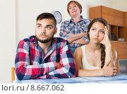family quarrels with the husbands mother. Стоковое фото, фотограф Яков Филимонов / Фотобанк Лори
