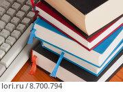 Купить «computer book library computers literature», фото № 8700794, снято 16 августа 2018 г. (c) PantherMedia / Фотобанк Лори