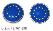 Купить «Banner Button European Union», фото № 8761898, снято 15 октября 2019 г. (c) PantherMedia / Фотобанк Лори