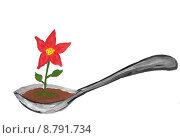 Цветок. Стоковая иллюстрация, иллюстратор Сергей Немшилов / Фотобанк Лори