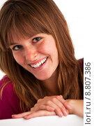 Купить «woman portrait girl smiling smile», фото № 8807386, снято 15 сентября 2019 г. (c) PantherMedia / Фотобанк Лори