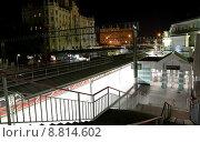 Купить «Белорусский вокзал ночью, Москва», фото № 8814602, снято 8 августа 2015 г. (c) Владимир Журавлев / Фотобанк Лори