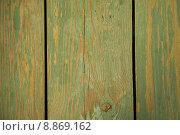 Фактурные доски с облупившейся зеленой краской. Стоковое фото, фотограф Дмитрий Булин / Фотобанк Лори