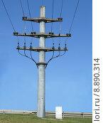Купить «mast traverse betonmast current endmast», фото № 8890314, снято 23 мая 2019 г. (c) PantherMedia / Фотобанк Лори