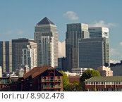 Купить «London Docklands from Greenwich Pier», фото № 8902478, снято 16 января 2019 г. (c) PantherMedia / Фотобанк Лори