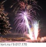 Купить «Arctic Solstice Fireworks», фото № 9017170, снято 20 сентября 2019 г. (c) PantherMedia / Фотобанк Лори
