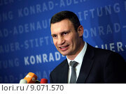 Купить «Berlin, Germany, Vitali Klitschko, UDAR, Mayor of Kiev», фото № 9071570, снято 12 сентября 2014 г. (c) Caro Photoagency / Фотобанк Лори