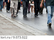 Crowd walking - group of people. Стоковое фото, фотограф Rafal Olkis / PantherMedia / Фотобанк Лори