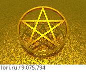 Купить «symbol sign 3d gold religion», фото № 9075794, снято 19 марта 2019 г. (c) PantherMedia / Фотобанк Лори