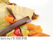 Купить «vegetable fried stripe stripes paprika», фото № 9109918, снято 23 апреля 2019 г. (c) PantherMedia / Фотобанк Лори