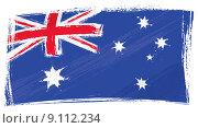 Купить «Grunge Australia flag», фото № 9112234, снято 18 февраля 2020 г. (c) PantherMedia / Фотобанк Лори