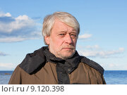 Купить «Portrait of middle-aged man at the sea.», фото № 9120398, снято 23 июля 2019 г. (c) PantherMedia / Фотобанк Лори