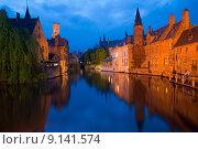Купить «Bruges Canal Buildings Rozenhoedkaai», фото № 9141574, снято 24 января 2019 г. (c) PantherMedia / Фотобанк Лори