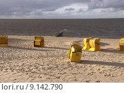 Купить «blue yellow beach basket seaside», фото № 9142790, снято 17 октября 2018 г. (c) PantherMedia / Фотобанк Лори