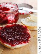 Купить «food breakfast roll jam breakfeast», фото № 9157562, снято 22 мая 2019 г. (c) PantherMedia / Фотобанк Лори