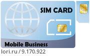illustration of sim card. Стоковое фото, фотограф Willy Deganello / PantherMedia / Фотобанк Лори