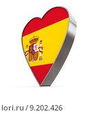 Купить «Solid Shiny Metallic Heart - Flag of Spain», фото № 9202426, снято 8 июля 2020 г. (c) PantherMedia / Фотобанк Лори