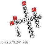 Купить «Emotions Crossword», фото № 9241786, снято 16 июня 2019 г. (c) PantherMedia / Фотобанк Лори